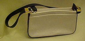 Vintage black and white leather Mondani purse like new