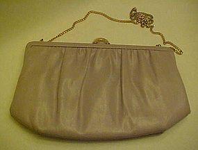 Vintage 50's Mardane mauve leather convertible purse