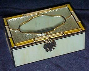 Leaded slag glass jewelry box, I said a Prayer for you
