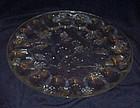 Tiara crystal clear Ponderosa Pine egg plate