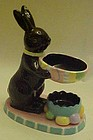 Chocolate easter bunny candle warmer
