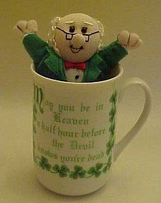 Irish coffee mug with Irish quote,  with free bonus