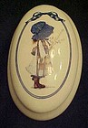 Holly Hobbie ceramic trinket  vanity box 2002