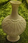 Lenox  ivory and gold shell vase USA