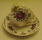 Myotts Staffordshire bouquet cup and saucer