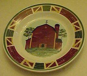 Tienshan Prairie salad plate , Red barn