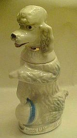 Jim Beam white poodle with ball decanter