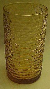 Anchor Hocking Soreno Honey Gold high ball tumbler