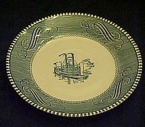 Currier and Ives saucer by Royal China
