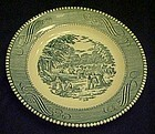 Currier and Ives bread and butter plate by Royal china