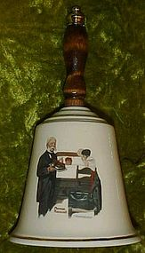 Limited edition Norman Rockwell bell by Monarch China