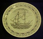 Norwegian American line Brig Anna Maria plate