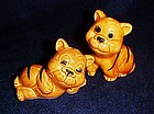 Enesco Tiger stripe kittens salt and pepper shakers