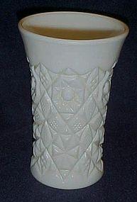 Pressed pattern milk glass tumbler