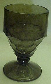 Georgian pattern footed goblets smoke color
