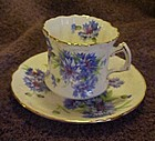 Hammersley china cornflower embossed cup and saucer