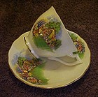 Melba bone china cup and saucer, cottage and garden