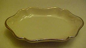 Lenox china ivory with gold trim soap dish or pin dish