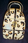 Leopard print ceramic hand bag purse cookie jar MSRF