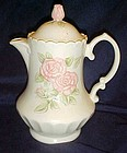 Rare Metlox Vernon rose pink coffee pot and lid