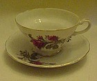 Vintage Moss rose fancy cup and saucer set