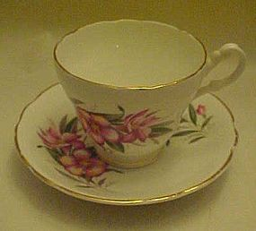 Vintage fancy bone china cup and saucer Consort England