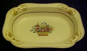 Antique Spode 2/7199 baskets and birds vegetable bowl