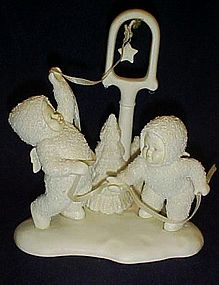 Department 56 Snowbabies figurine, ring the bell