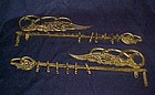 Antique Victorian  fancy swing arm curtain rods