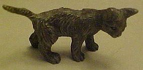 Spoontiques miniature  pewter standing cat figurine