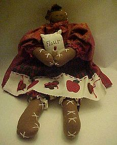 Black lady gingerbread baker rag doll