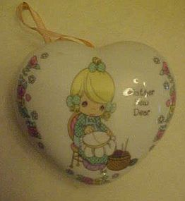 Precious Moment heart shape Mother sew dear sachet