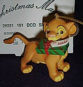 Disney Christmas Magic Simba with gift ornament MIB