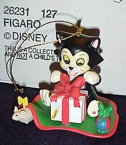 Disney Christmas magic ornament Figaro cat,  MIB