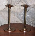 Pair of Roycroft Arts and Crafts Candlesticks