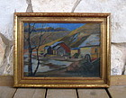 Minnesota Artist Limborg Arts and Crafts Painting 1923