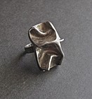 Vintage Modernist Sterling Ring Hyvarinen Finland