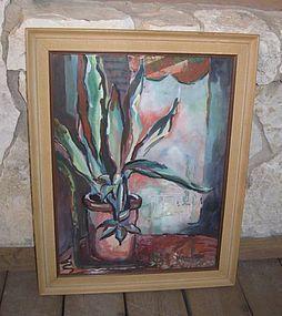 Mid Century Modern Houston Texas Artist Painting