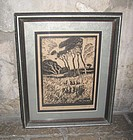 Early Texas Artist Print Harry Anthony De Young