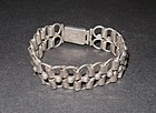 Early Taxco 980 Silver Link Bracelet 8""