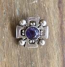 Vintage Mexican Silver Brooch Fred Davis Design