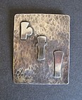 Large Handmade Arts and Crafts Sterling Brooch Signed