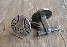 Vintage Mexican Silver Modernist Cuff Links Ballesteros