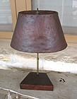 Vintage Mid Century Modern Burl Wood Lamp