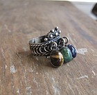 Vintage Sterling Taxco Mexico Ring Gemstones