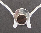Vintage Modernist Sterling Neck Ring  Hand Wrought