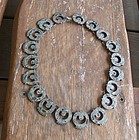 Vintage Taxco Mexico Early Sterling Stone Necklace