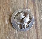 Vintage Arts Crafts Sterling Brooch Signed