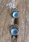 Vintage Modernist Sterling Silver Enamel Earrings