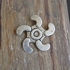 Vintage Early Silver Pinwheel or Sun Brooch Pendant